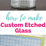 Cricut Explore Essentials: How to Make Custom Etched Glass