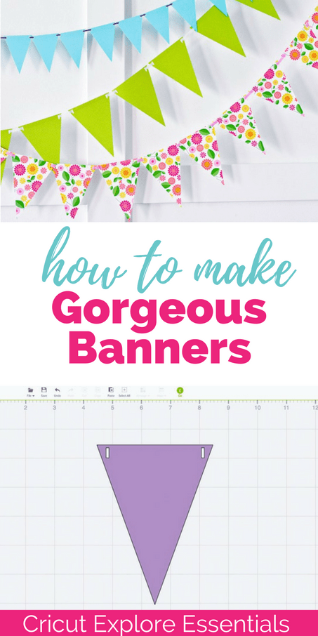 She shows you step by step how to make a banner using the Cricut Explore! Such an easy tutorial with great information!