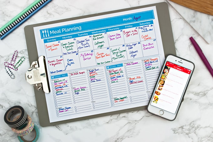 The best way to organize your meal planning and grocery shopping - free printable included!