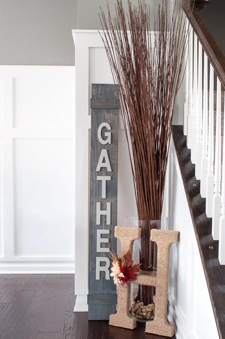 DIY Gather Wooden Sign