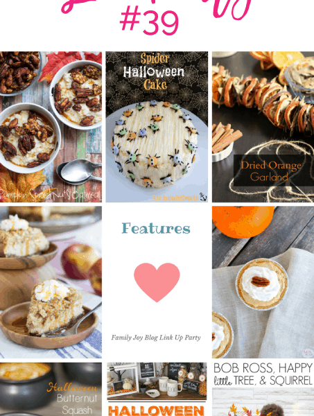 Features from the Family Joy Blog Link Party #39. I love all the cute Halloween ideas.
