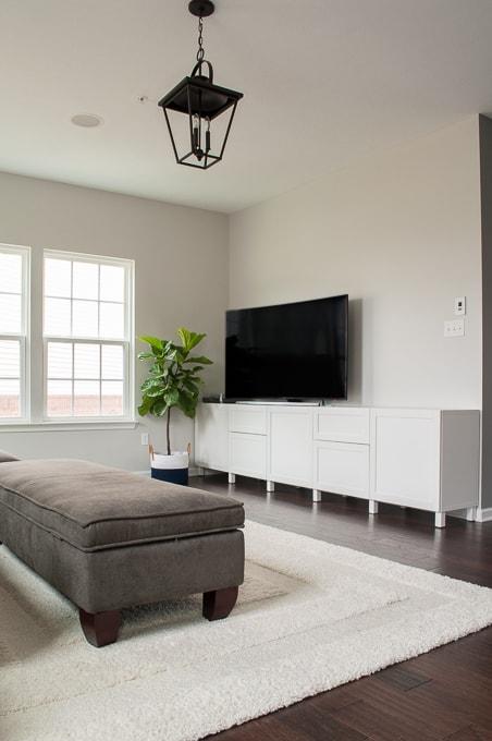 How to Design a Modern Media Center using IKEA BESTA cabinets » Keys ...