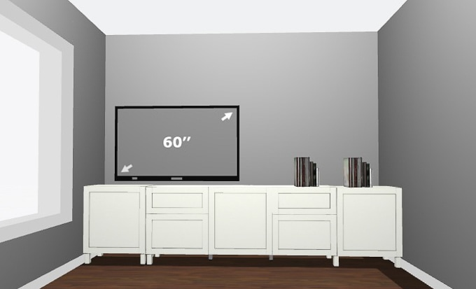 How To Design A Modern Media Center Using IKEA BESTA Cabinets. Get A Built