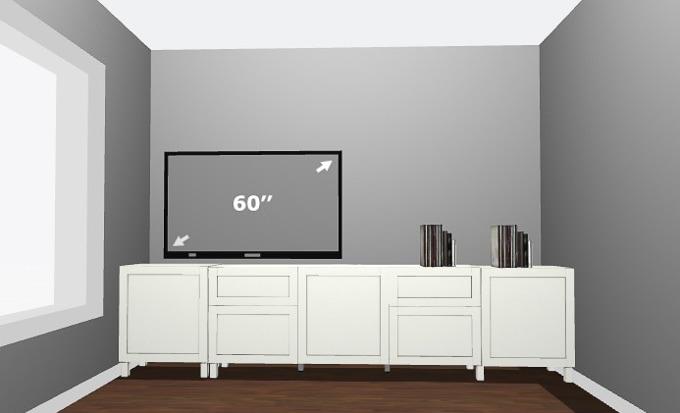 Ordinaire How To Design A Modern Media Center Using IKEA BESTA Cabinets. Get A Built