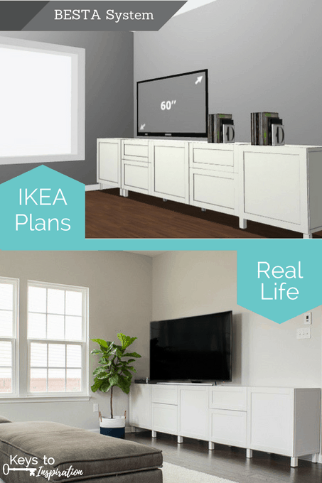 ikea living room built in how to design a modern media center using ikea besta cabinets