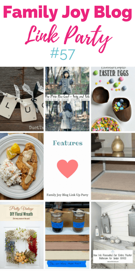 Features from the Family Joy Blog Link Party #57. Great and creative ideas!