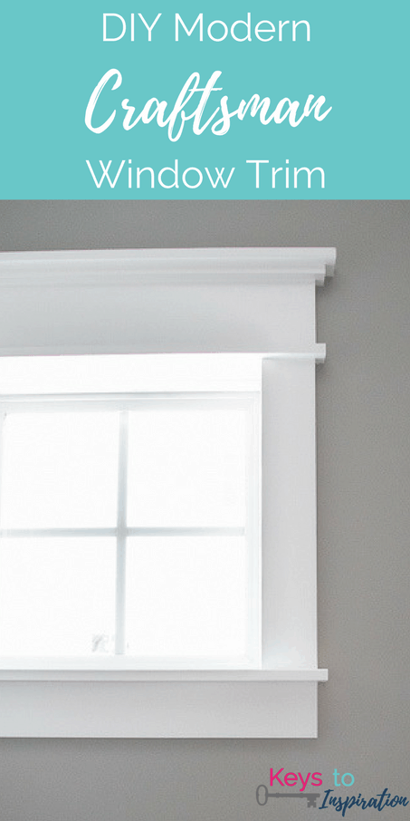Tutorial for creating modern craftsman window trim. I love the clean crisp look of the  sc 1 st  Keys To Inspiration & DIY Modern Craftsman Window Trim » Keys To Inspiration