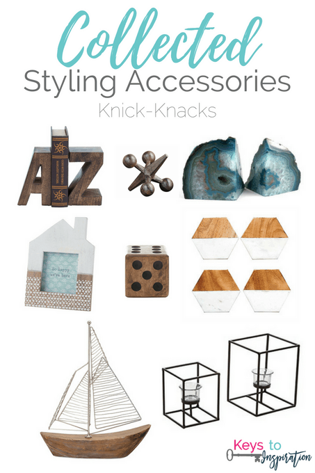 Get the Modern Classic look for less! Collected Styling Accessories - Knick-Knacks for your home. All of these are from Amazon!