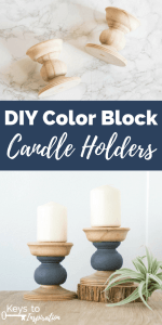 DIY Color Block Candle Holders