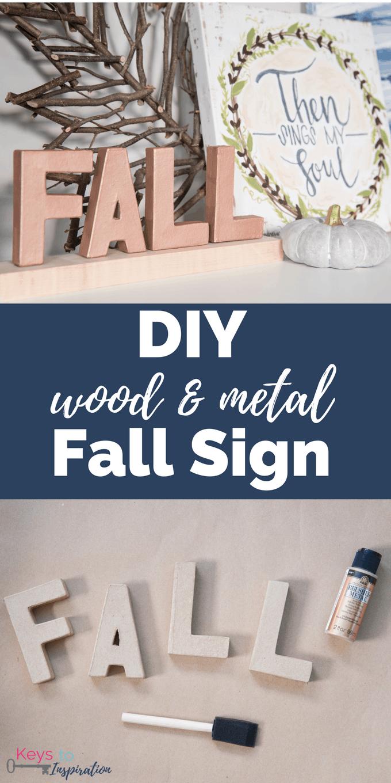 DIY Wood And Metal Fall Sign Keys To Inspiration