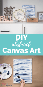 DIY Abstract Canvas Art
