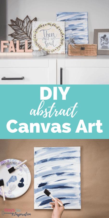 Diy Abstract Canvas Art Keys To Inspiration