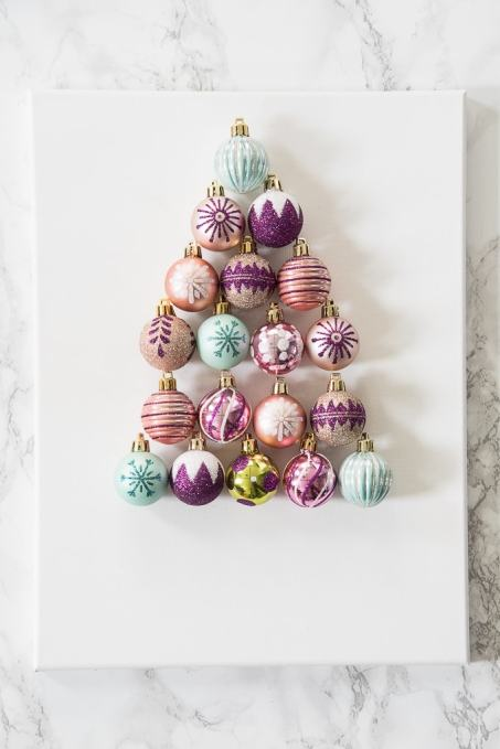 DIY Christmas Tree Ornament Art Create A Bright And Modern Piece Using Ornaments