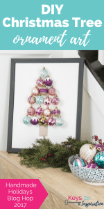 DIY Christmas Tree Ornament Art