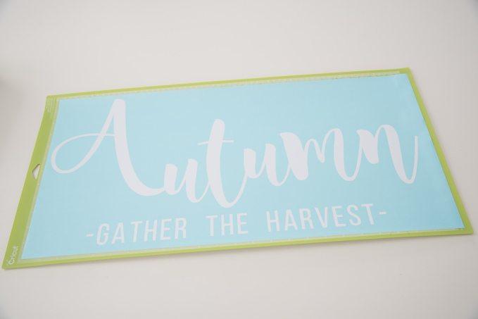 Cricut cutting mat white Autumn design finshed
