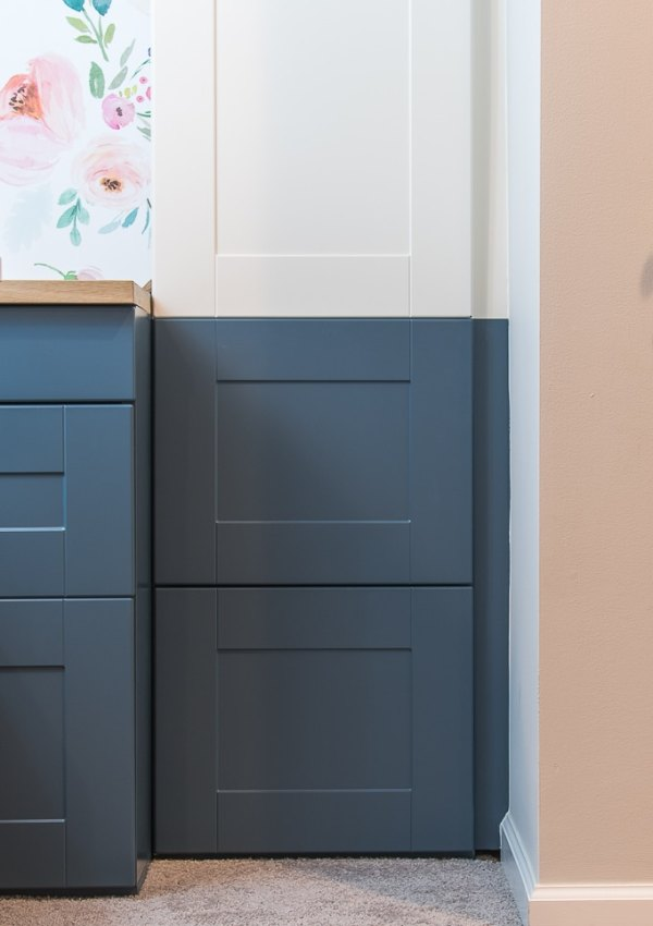 How to Paint IKEA SEKTION Cabinets {One Room Challenge Week 4}
