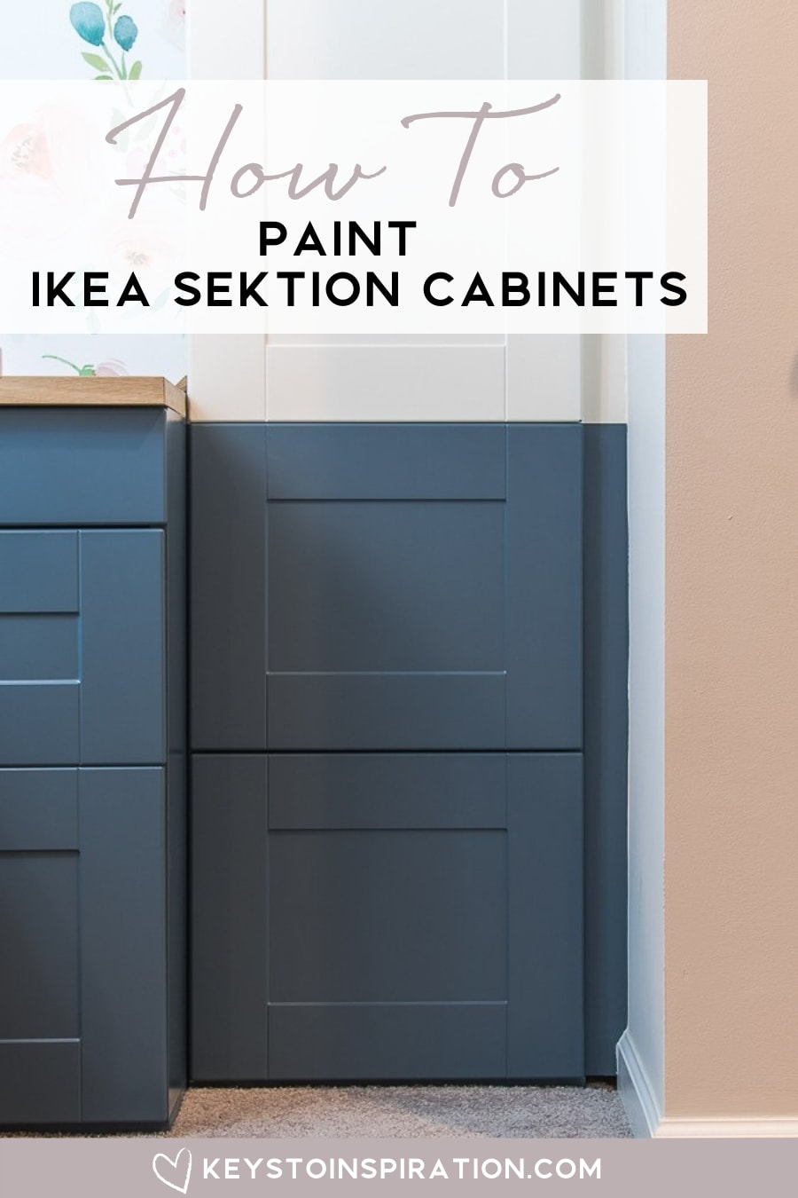 86778ed2f5ef How to Paint IKEA SEKTION Cabinets {One Room Challenge Week 4 ...