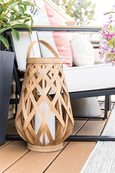 wooden outdoor lantern from Target