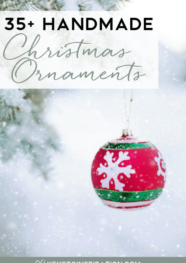 35+ Handmade Christmas Ornaments (2019 Ornament Exchange)