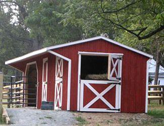 Amish Built Horse Sheds  Barns  Keystone Barns
