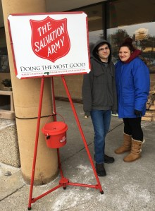 Caldwell Alt students volunteer to be bell ringers for the Salvation Army.