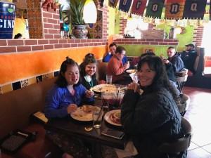 Eating Mexican food on Cinco de Mayo.