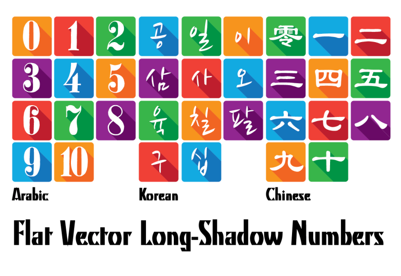 vector-flat-numbers