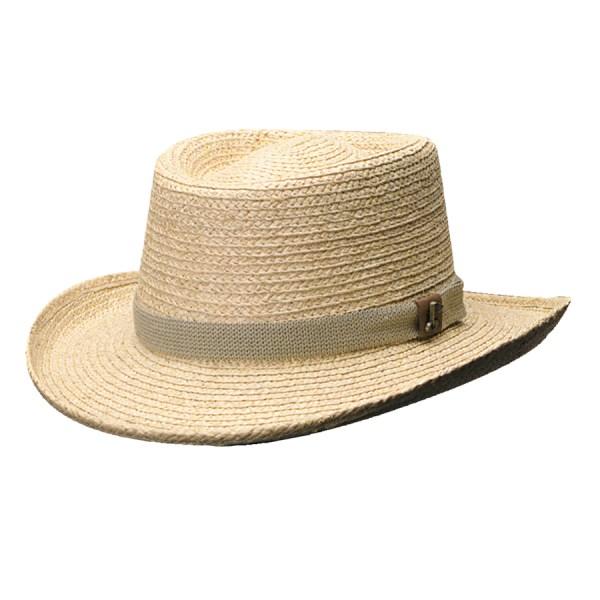 Organic Raffia Gambler Hat With Golf Ornament Scala