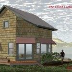 The Ecofit 20 X20 Simple Open Floor Plan Passive Solar Living Off The Grid Prefab House Kit Or Plan