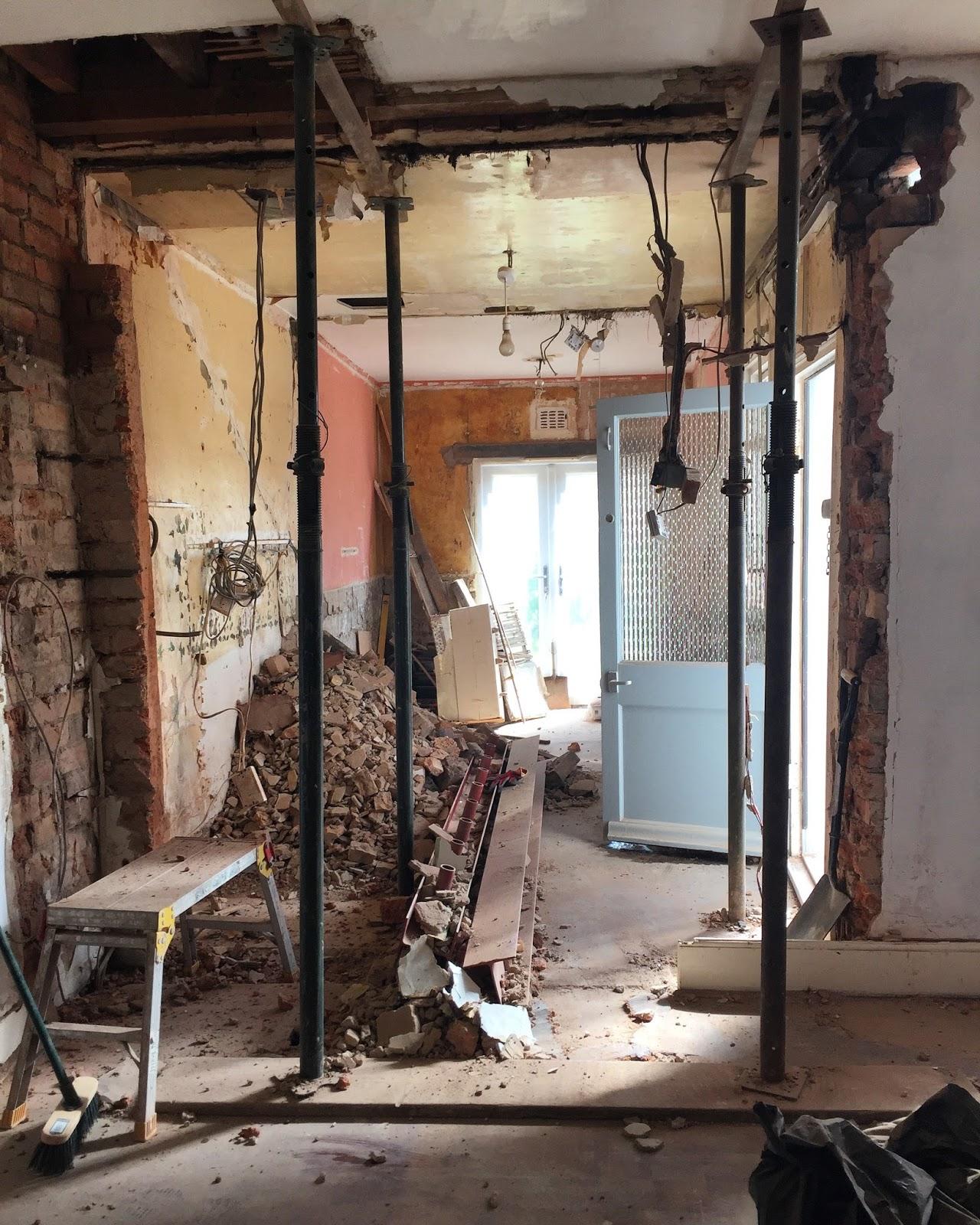 How To Plan Removing A Load Bearing Wall Kezzabeth Diy Renovation Blog