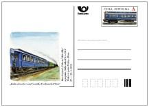 """Příležitostná poštovní dopisnice """"Vlaková pošta"""""""