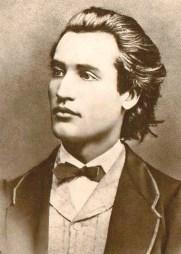 básník Mihai Eminescu v 19 letech
