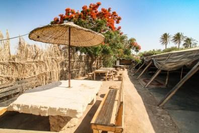 Bedouin tent area