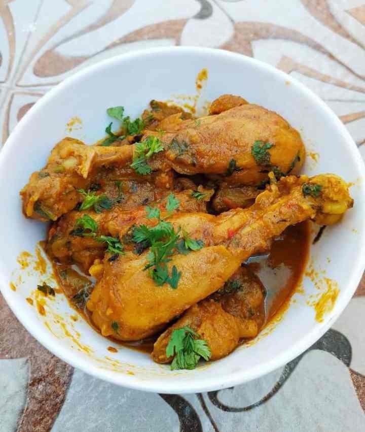 Bengali style chicken kosha (curry)