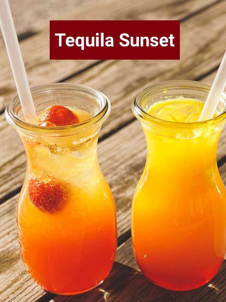 Sunset tequila cocktail