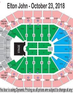 Seating chart also elton john farewell yellow brick road kfc yum center rh kfcyumcenter
