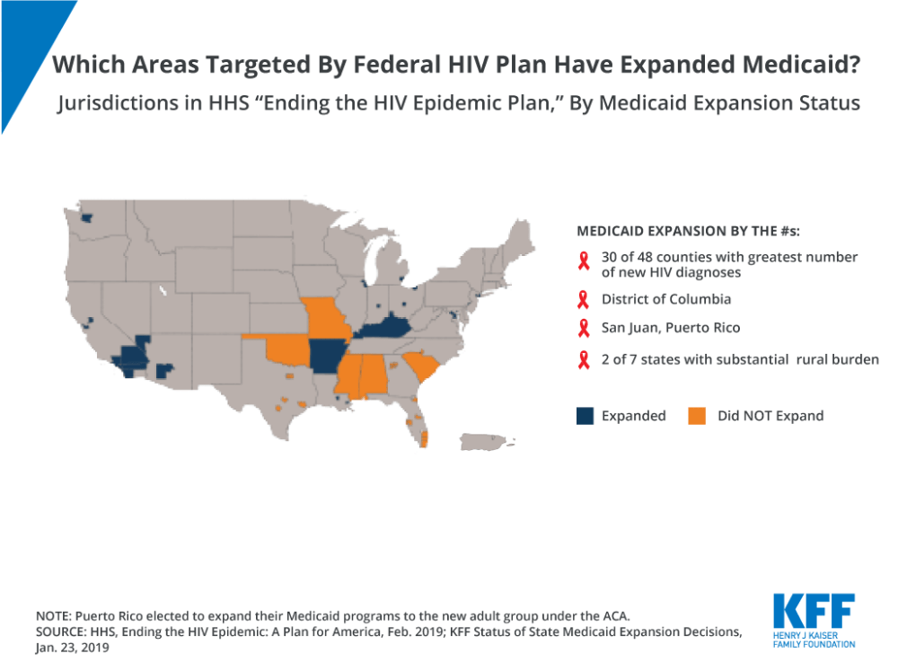 medium resolution of counties targeted by hhs plan to end hiv epidemic medicaid expansion medicaid hiv