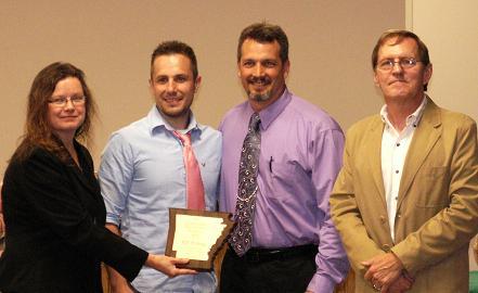 L –R Cathy Drew, Jason Light, Scott Bullard and Bob Pest (P.D. Printing – President's Award)