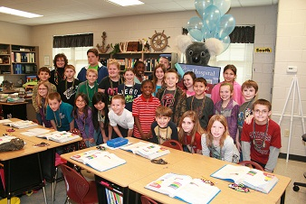Mrs.Carol Frank's 4th grade class at Southwest Middle School