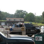 First Service Bank parking lot is packed