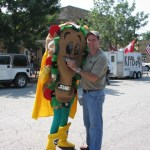 You never know who Bob Connell will run into and interview (But during the parade)