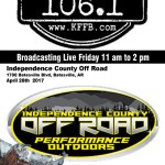 Join the Timeless 106.1 KFFB Road Gang this Friday at Independence County Off Road