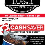 Join Timeless 106.1 KFFB at Cash Savers Cost Plus Gigantic Massive Meat Sale Friday May 12th