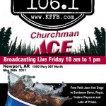 Join Timeless 106.1 KFFB Broadcasting Life at Churchman's Building Center in Newport Friday