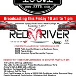 Timeless 106.1 KFFB at Red River Dodge in Heber Springs, Friday, September 1st