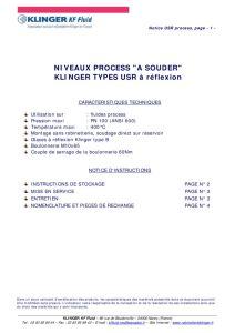 thumbnail of KLINGER INDICATEURS DE NIVEAU-insttruction de montage-application process 20