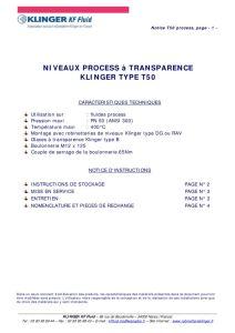 thumbnail of KLINGER INDICATEURS DE NIVEAU-insttruction de montage-application process 22
