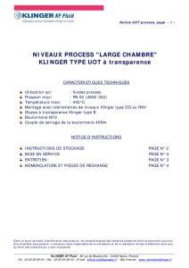 thumbnail of KLINGER INDICATEURS DE NIVEAU-insttruction de montage-application process 26