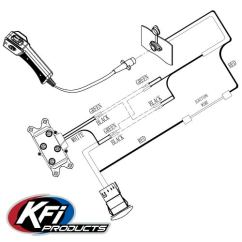 Winch Controller Wiring Diagram Bmw E53 Radio Dash Rocker Switch Kit Kfi Atv Mounts And Accessories Control See Below Schematic