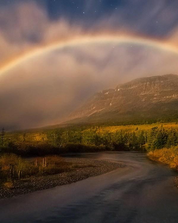 Photo Of Moonbows Glacier Park, Montana